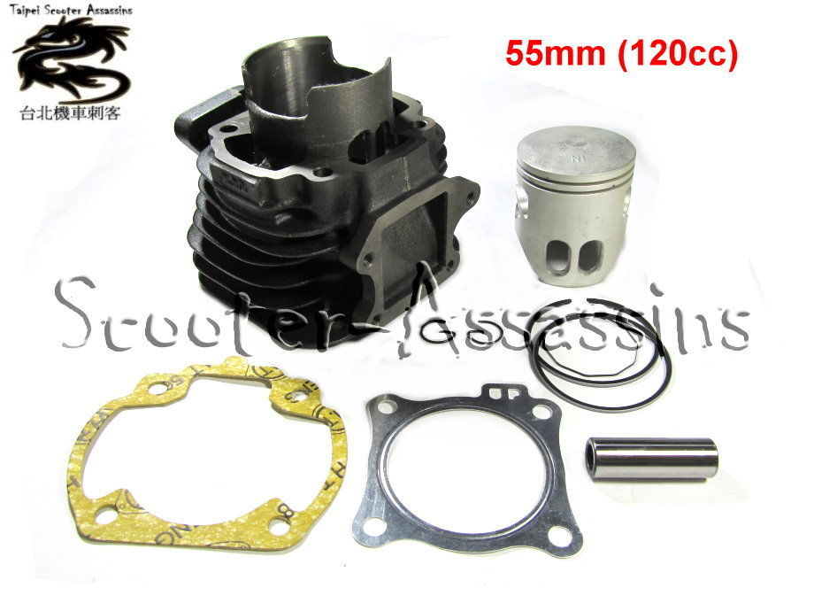 120cc 55mm BIG BORE KIT for SYM jet 100